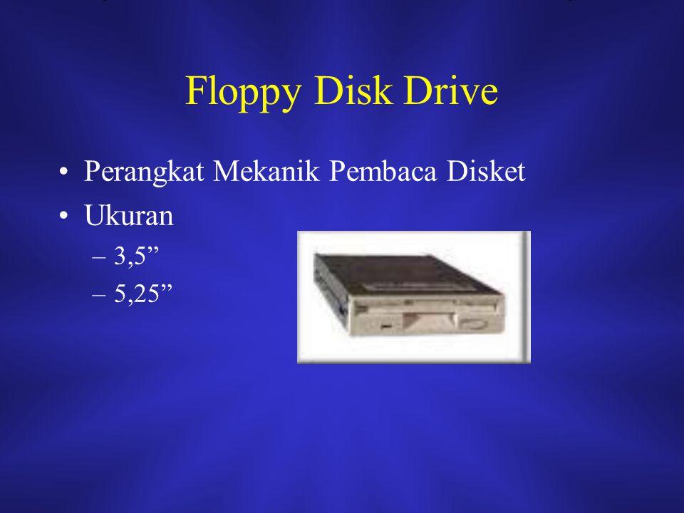 """Floppy Disk Drive Perangkat Mekanik Pembaca Disket Ukuran –3,5"""" –5,25"""""""