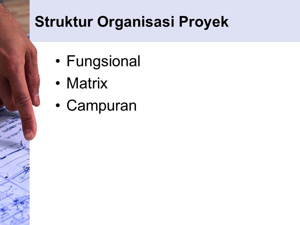 Struktur Organisasi Proyek Fungsional Matrix Campuran