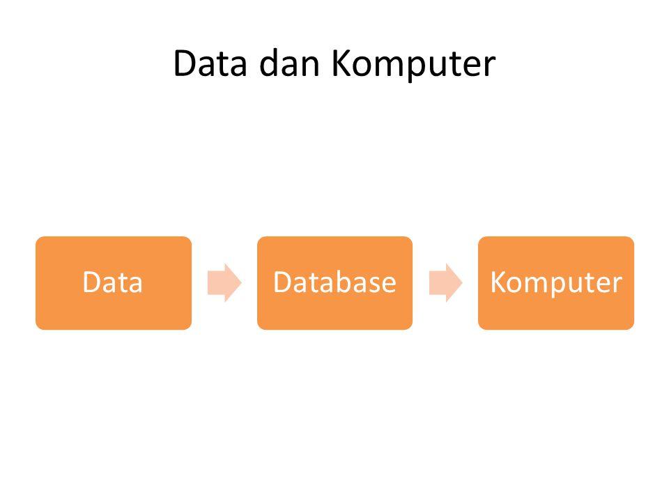 Data dan Komputer DataDatabaseKomputer