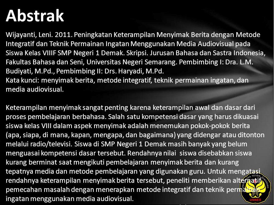 Abstrak Wijayanti, Leni. 2011.