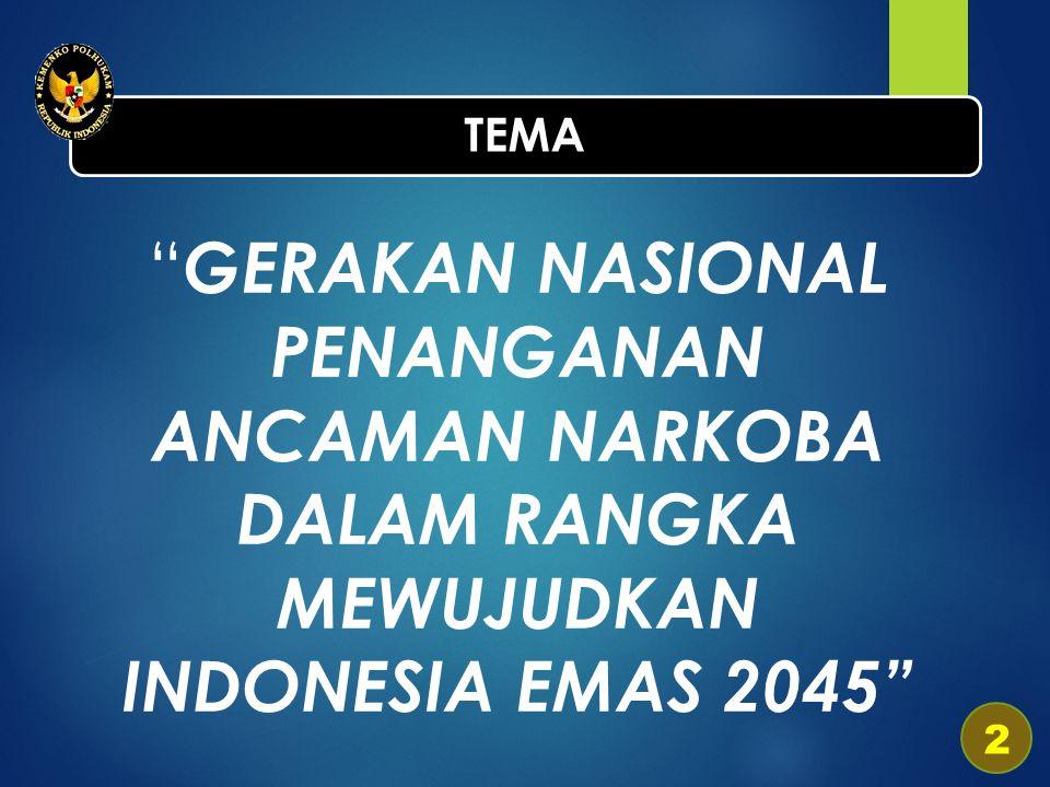 GERAKAN NASIONAL PENANGANAN ANCAMAN NARKOBA DALAM RANGKA MEWUJUDKAN INDONESIA EMAS 2045 TEMA 2