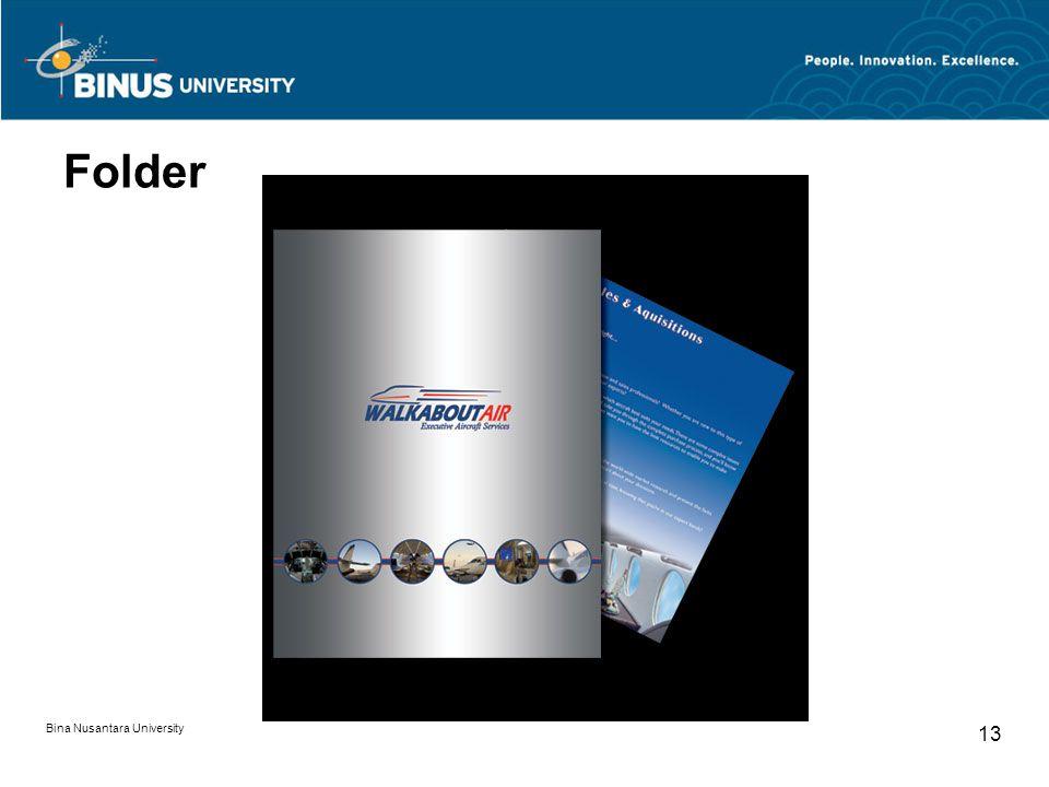 Folder Bina Nusantara University 13