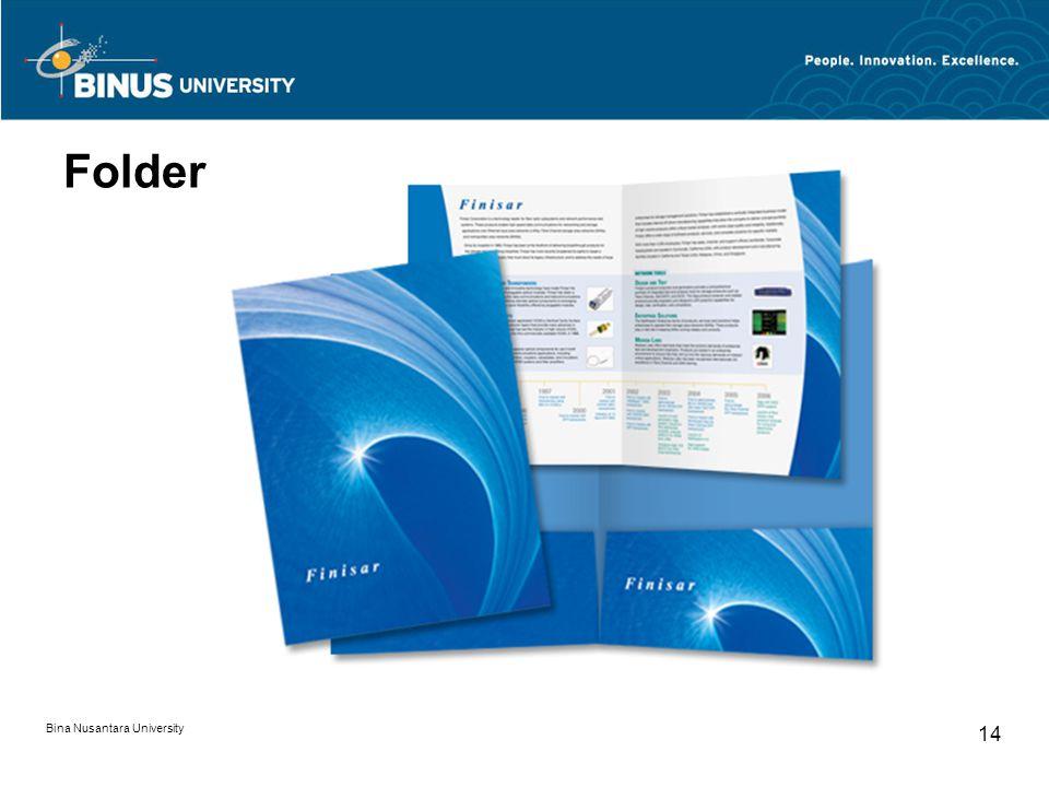 Folder Bina Nusantara University 14