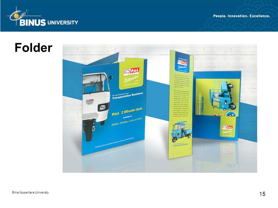Folder Bina Nusantara University 15