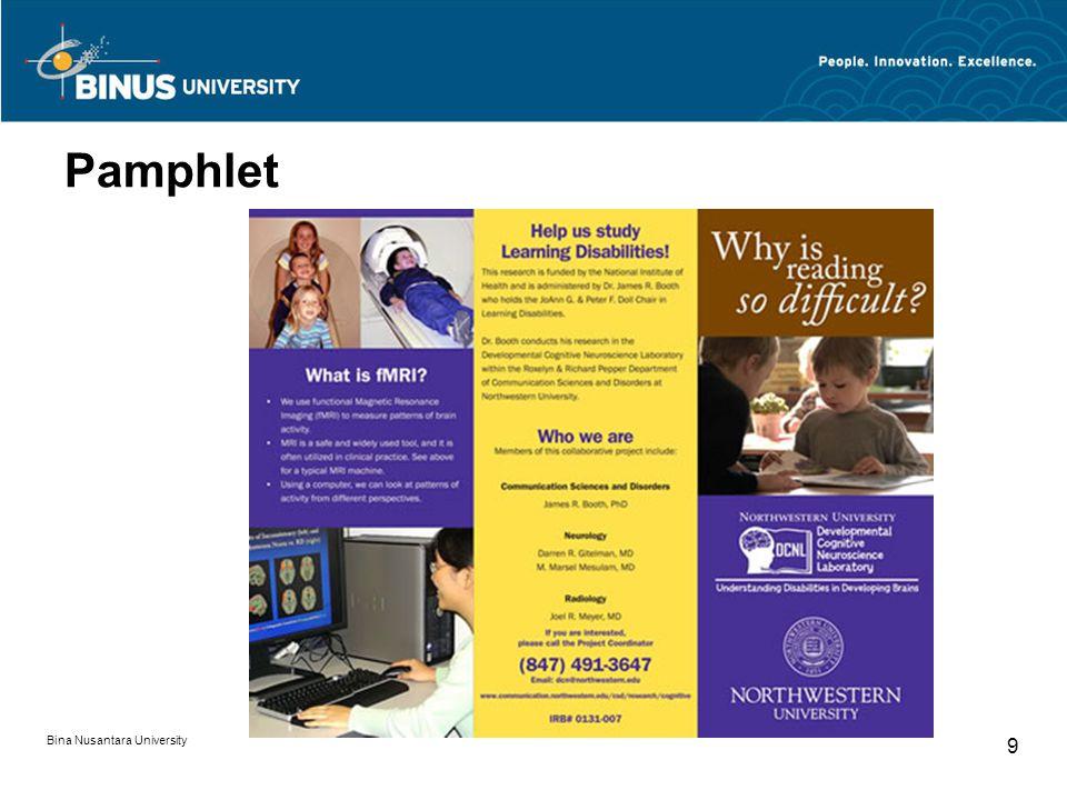 Pamphlet Bina Nusantara University 9