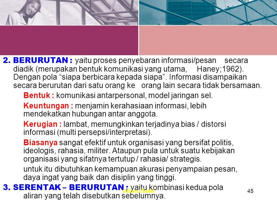 POLA ALIRAN INFORMASI 1.POLA RODA : adalah pola yang mengarahkan seluruh informasi kepada individu yang menduduki posisi sentral.