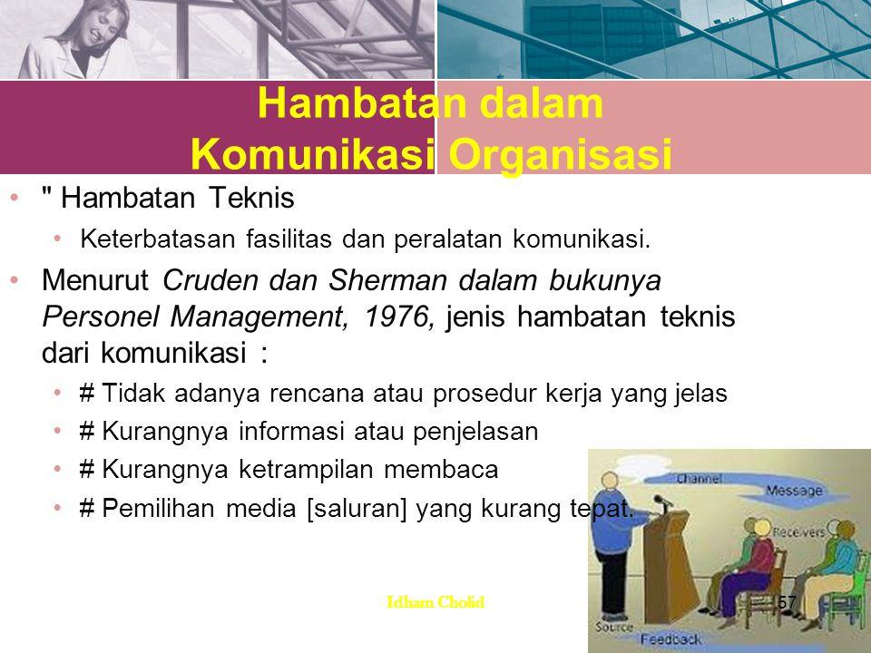 Hambatan dalam Komunikasi Organisasi