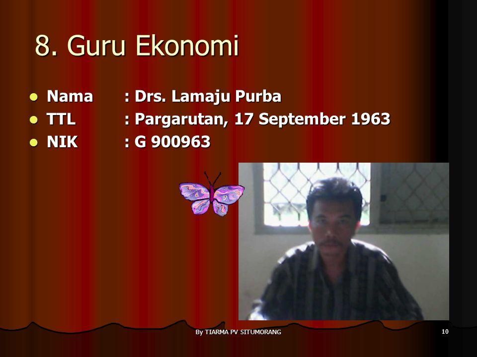 By TIARMA PV SITUMORANG 9 7. GURU SNSU Nama : Taronggal Sitinjak, S.Pd Nama : Taronggal Sitinjak, S.Pd TTL: Kamp. Kelapa, 12 Desember 1964 TTL: Kamp.