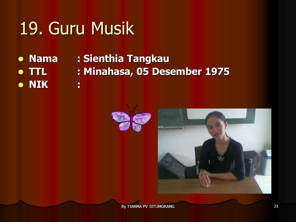 By TIARMA PV SITUMORANG 20 18. Guru B.Indonesia Nama : Loy Pasaribu,S.Pd Nama : Loy Pasaribu,S.Pd TTL: TTL: NIK: NIK: