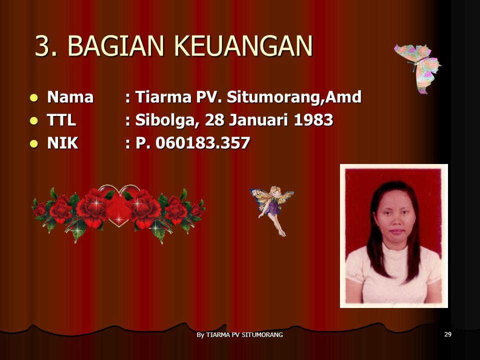 By TIARMA PV SITUMORANG 28 2. KEPALA TATA USAHA Nama : T. Situmorang Nama : T. Situmorang TTL: Dolok Sanggul, 16 Desember 1955 TTL: Dolok Sanggul, 16