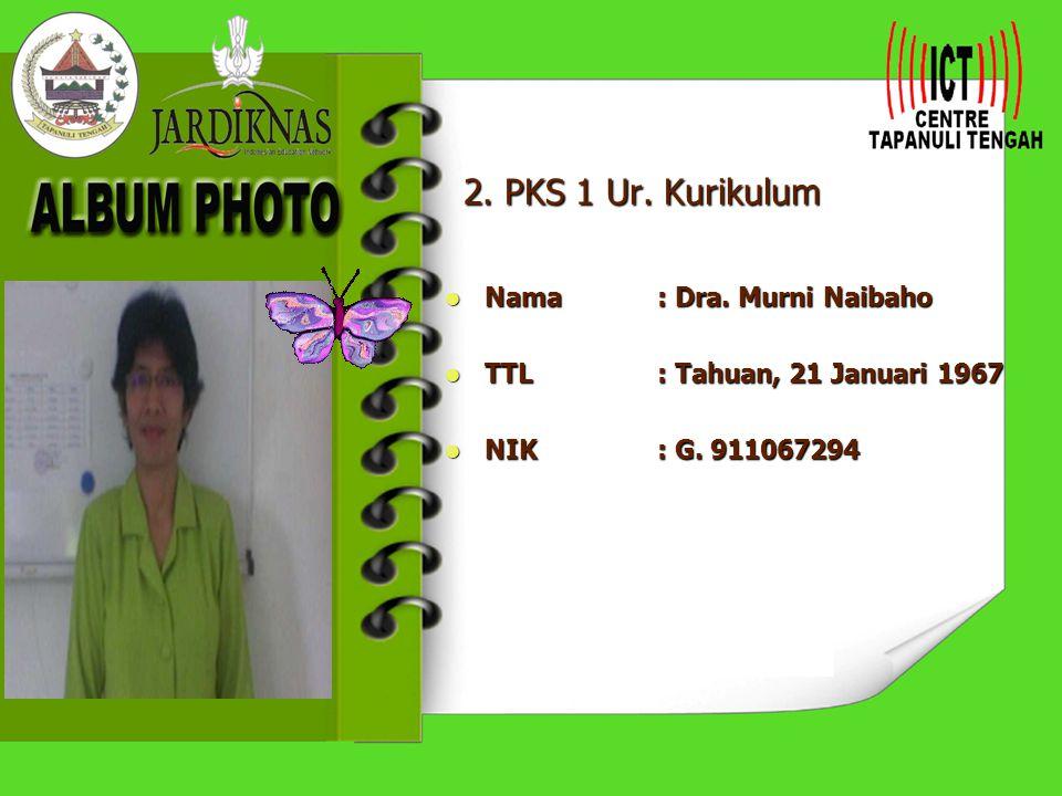 2.PKS 1 Ur. Kurikulum Nama : Dra. Murni Naibaho Nama : Dra.