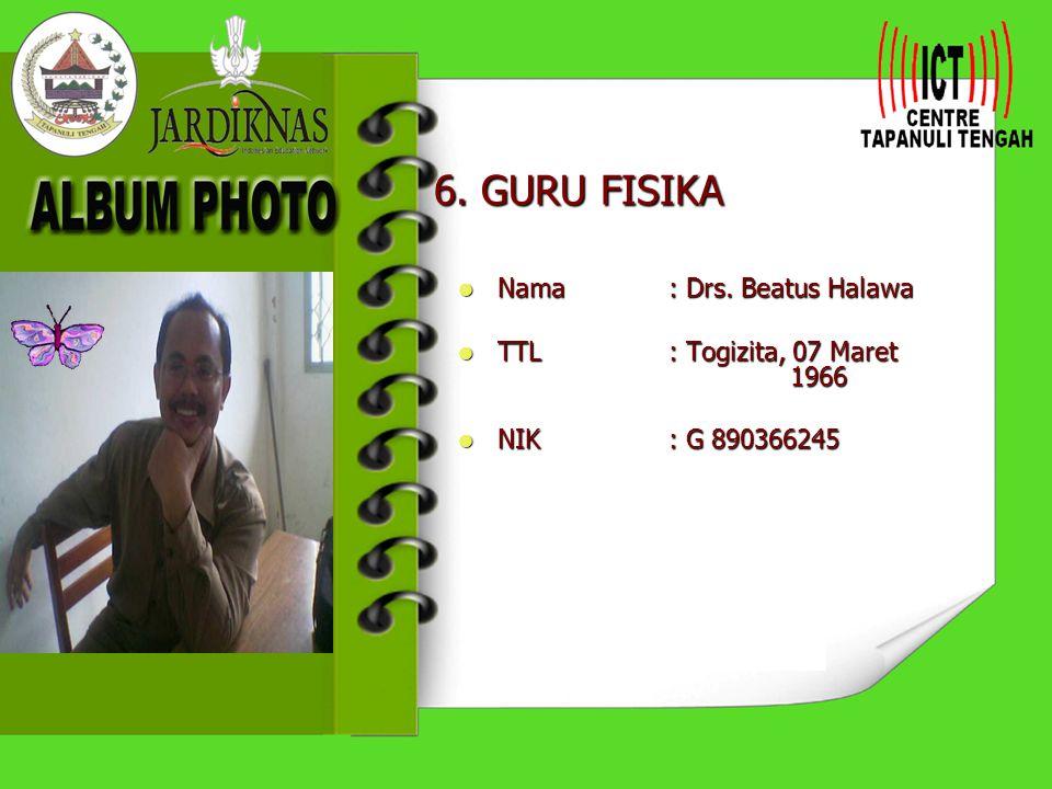 5. PKS 2. Ur.SAPRA Nama: Drs. Martinus Waruwu Nama: Drs. Martinus Waruwu TTL: Sifaoroasi, 06 Maret 1962 TTL: Sifaoroasi, 06 Maret 1962 NIK: G.90036228