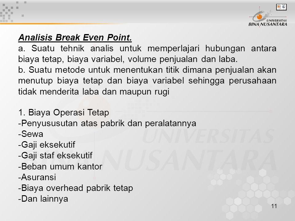 11 Analisis Break Even Point.a.