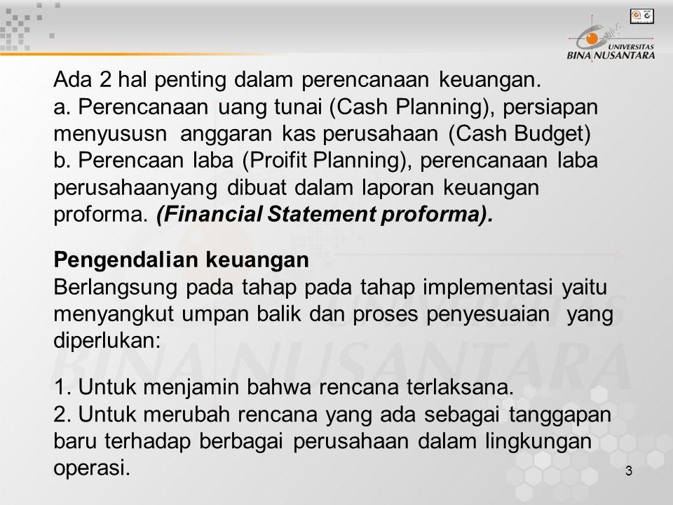 3 Ada 2 hal penting dalam perencanaan keuangan.a.