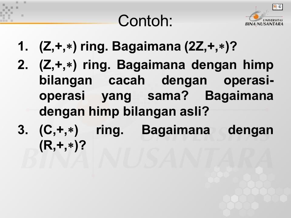 HOMOMORFISMA RING (R,+,  ) dan (R', ,  ) adalah ring-ring.