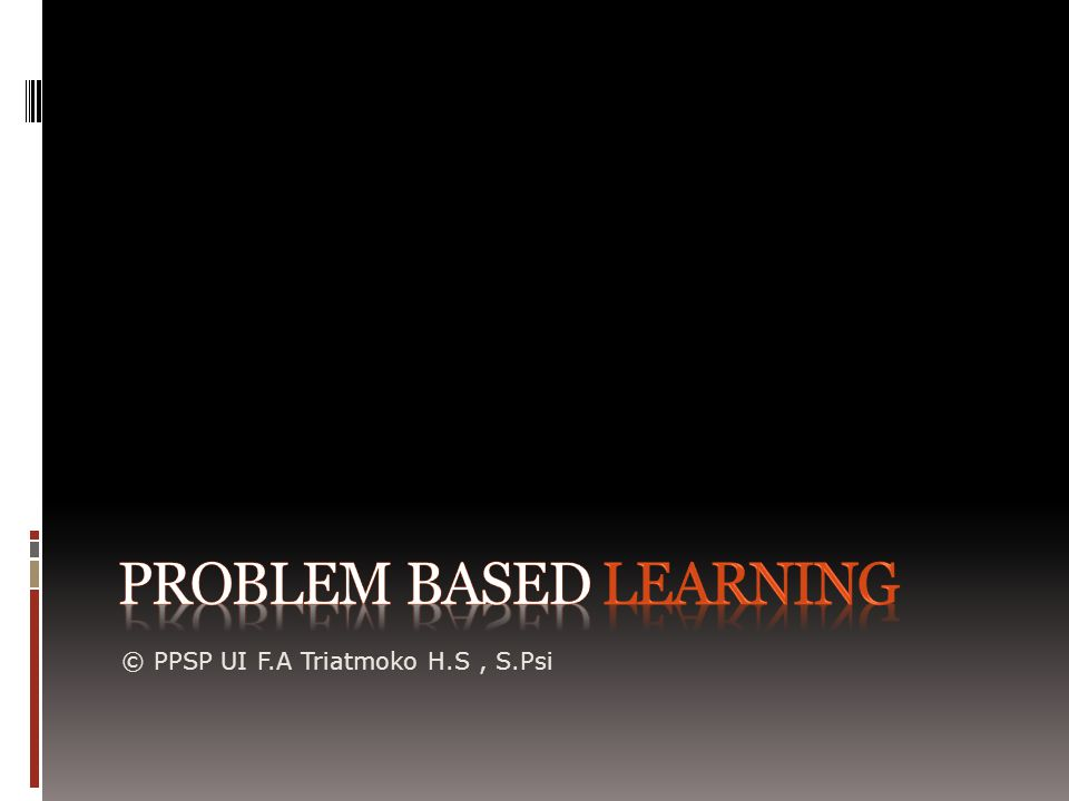 Apa Itu Problem Based Learning.