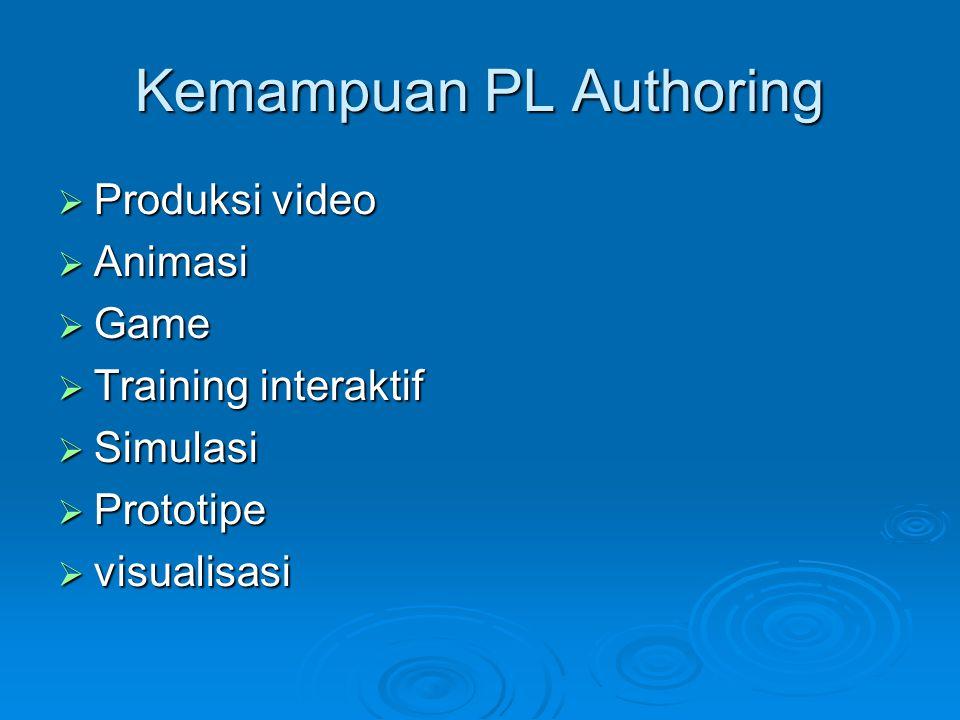 Kategori  Authoring berbasis halaman (page-based/ card-based)  Authoring berbasis ikon (icon-based, even-driven)  Authoring berbasis waktu (Time-Based)  Authoring berorientasi objek (object- oriented)  Authoring DVD