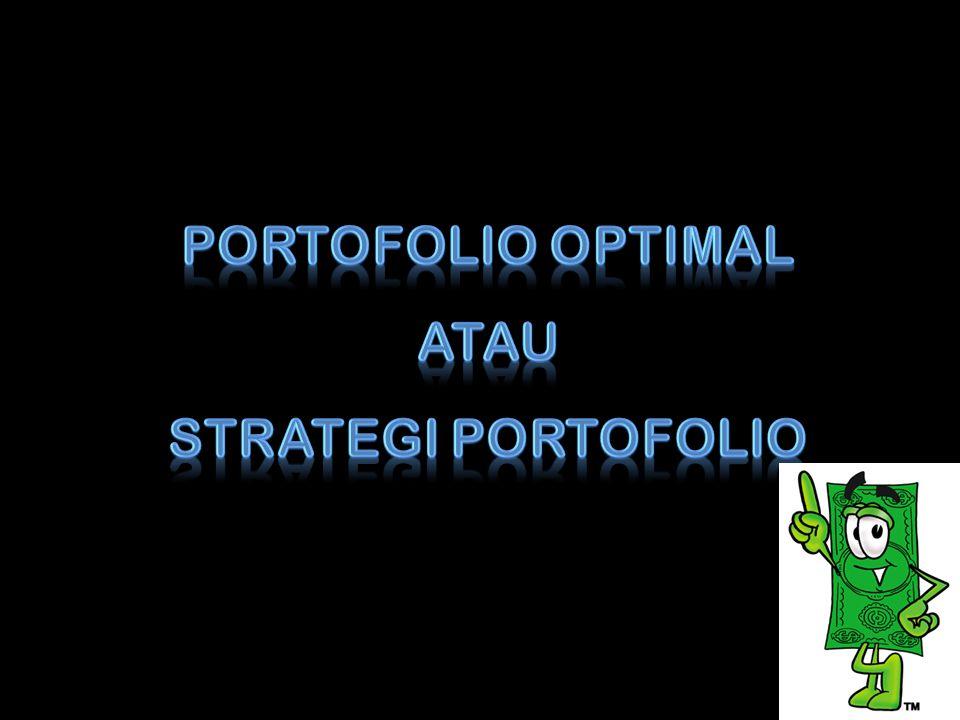 Portofolio merupakan investasi pada lebih dari satu saham (sekuritas).
