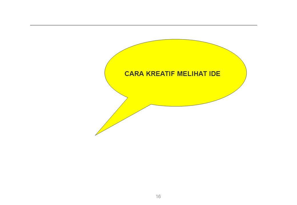 16 CARA KREATIF MELIHAT IDE