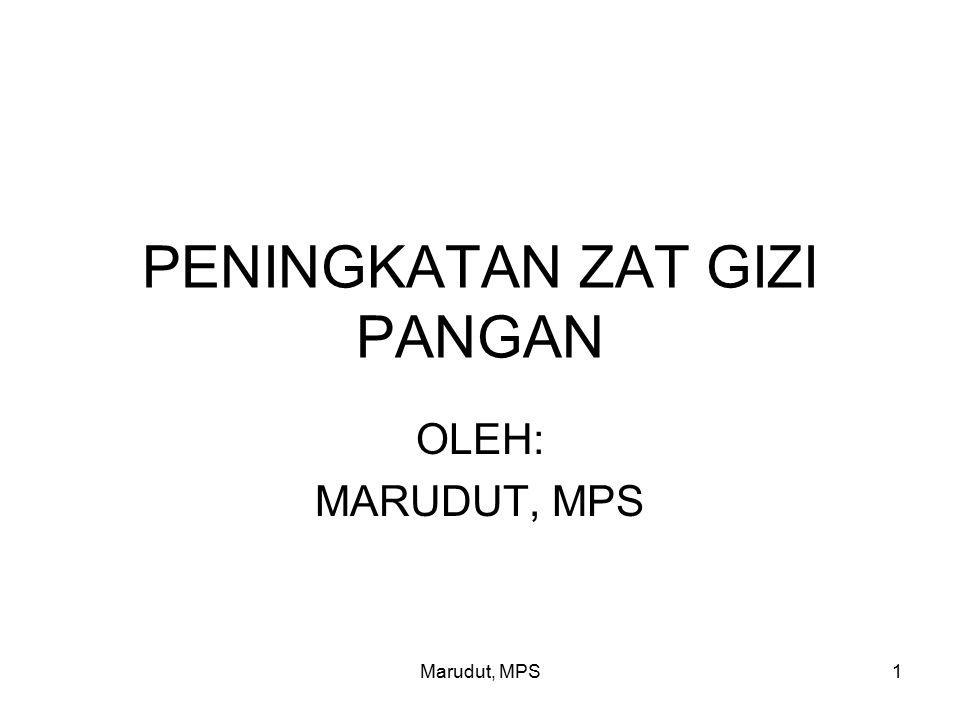 Marudut, MPS2 PERMASALAHAN KEKURANGAN DEFISIENSI KONSUMSI ZAT GIZI ZAT GIZI TERTENTU