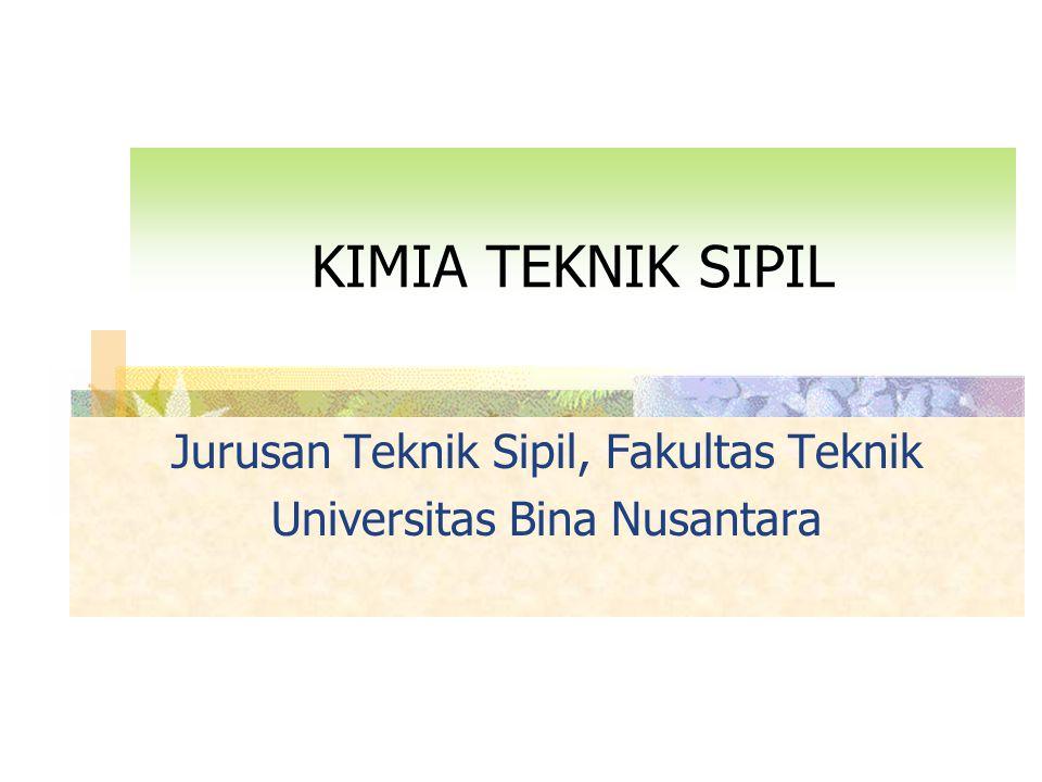 KIMIA TEKNIK SIPIL Jurusan Teknik Sipil, Fakultas Teknik Universitas Bina Nusantara