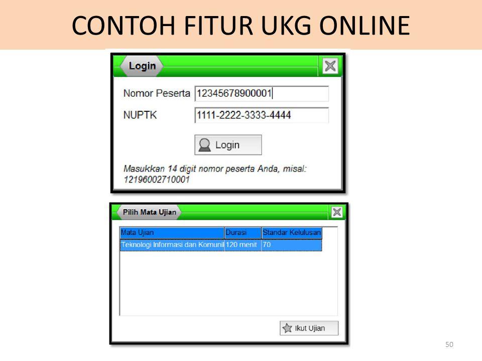 CONTOH FITUR UKG ONLINE 50