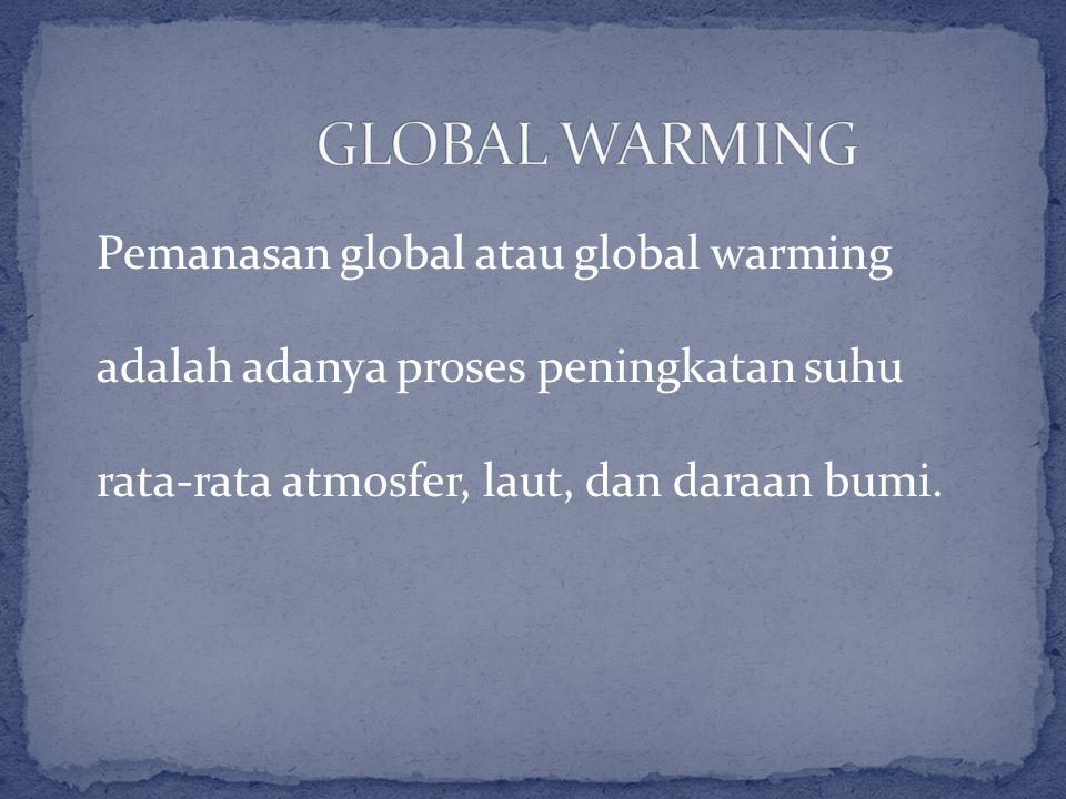 Pemanasan global atau global warming adalah adanya proses peningkatan suhu rata-rata atmosfer, laut, dan daraan bumi.