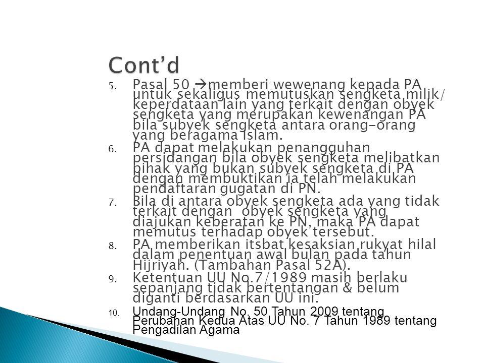 Di Jawa dan Madura Di Kalsel dan Kaltim Diluar Jawa dan Kalimantan (PP No.45/1957) Sesudah UU No.7 Tahun 1989 Sebelum UU No.3 Tahun 2006 Nama dan StrukturMahkamah Islam Tinggi(stbl 1937 No.116) Priester Raad (stbl 1882 No.152 & 1937 No.610) Kerapatan Qadi Besar (stbl 1937 No.639) Kerapatan Qadi (stbl 1937 No.638) Mahkamah Syariah Tingkat Provinsi Mahkamah Syariah P.T.A P.A.