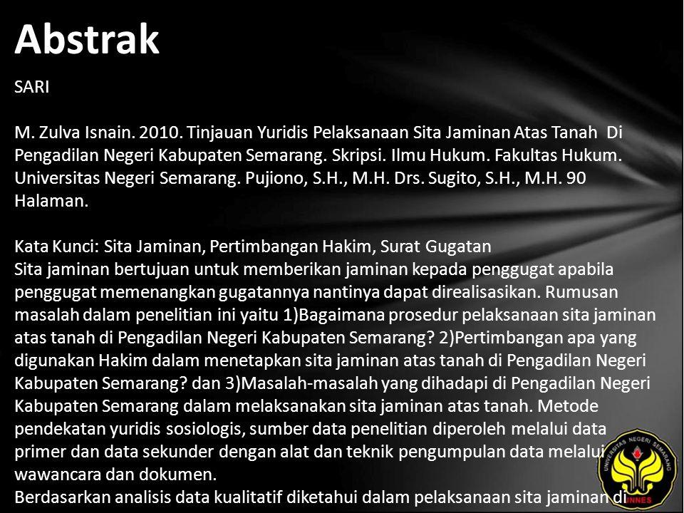 Kata Kunci Sita Jaminan, Pertimbangan Hakim, Surat Gugatan