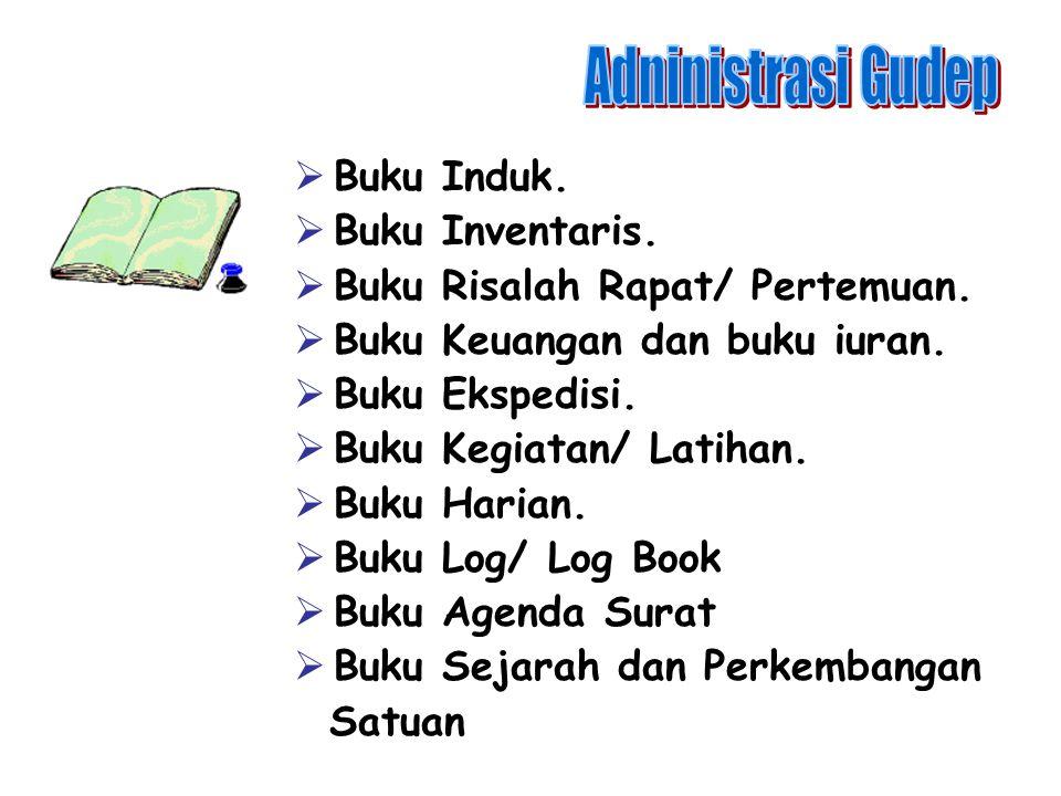  Daftar hadir latihan. Daftar/ kartu perkembangan anggota.