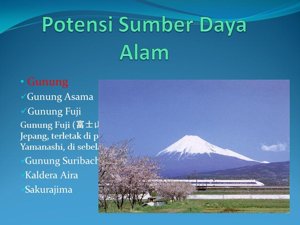 Gunung Gunung Asama Gunung Fuji Gunung Fuji ( 富士山, Fuji-san) adalah gunung tertinggi di Jepang, terletak di perbatasan Prefektur Shizuoka dan Yamanashi, di sebelah barat Tokyo.