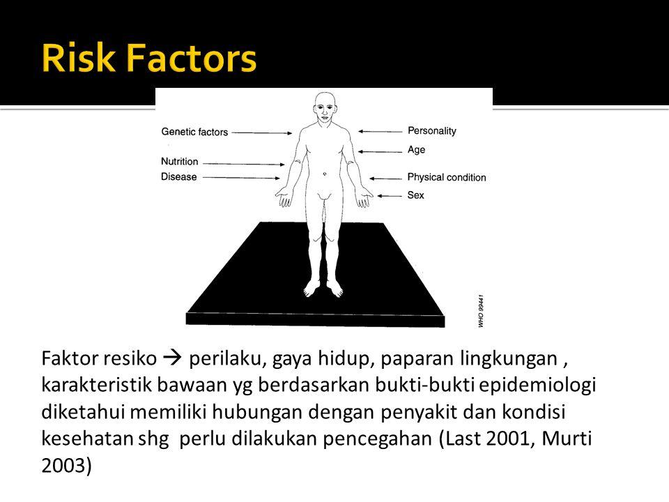  Segitiga Epidemiologi (Epidemiology Triangle  CDC 2002)  Jala-Jala Penyebab (Web of Causation  McMahon & Pugh 1970)  Model Roda (Wheel Model  Mausner & Kramer 1985)