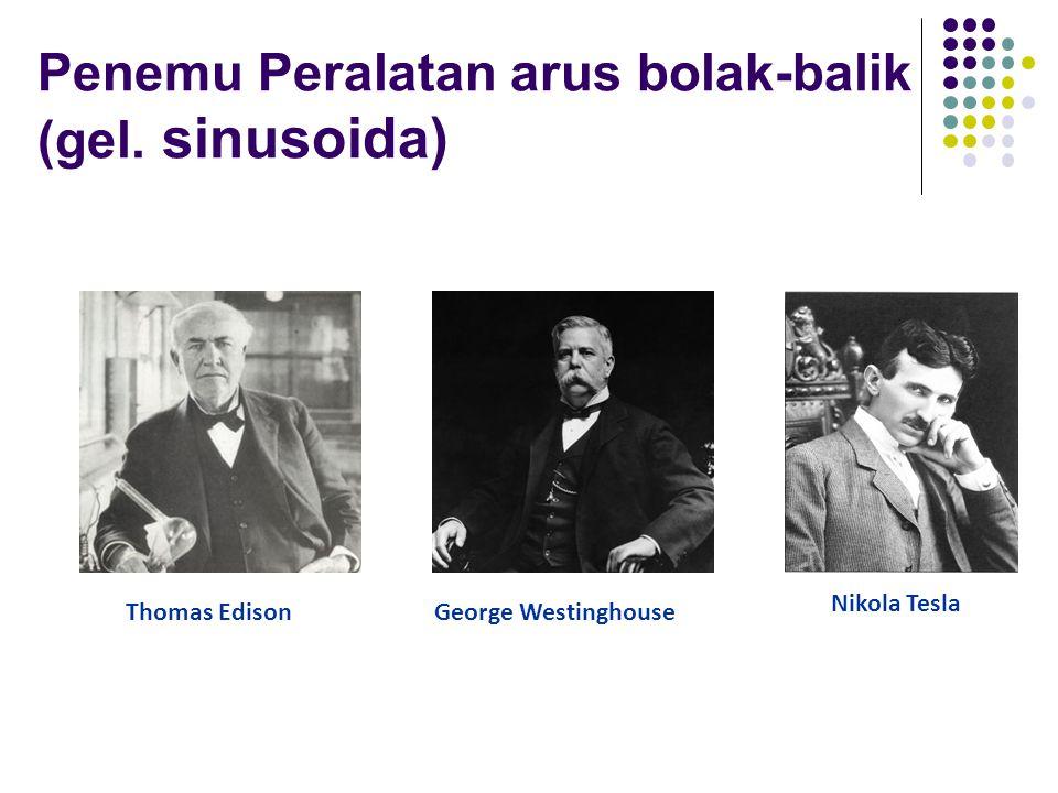 Penemu Peralatan arus bolak-balik (gel. sinusoida) Thomas EdisonGeorge Westinghouse Nikola Tesla