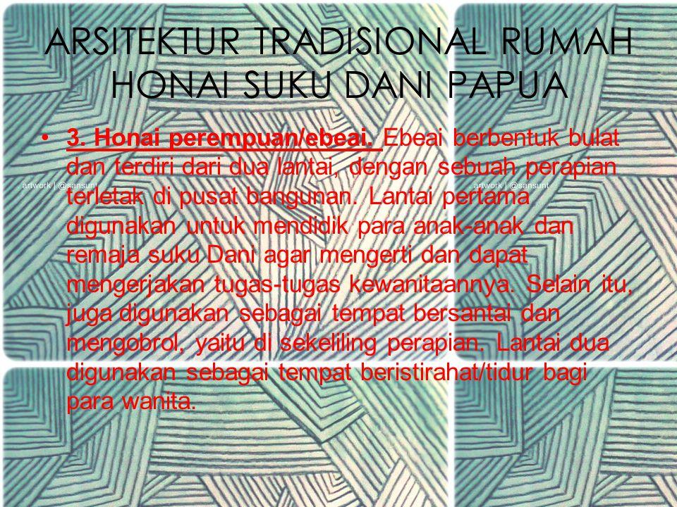 ARSITEKTUR TRADISIONAL RUMAH HONAI SUKU DANI PAPUA 2.