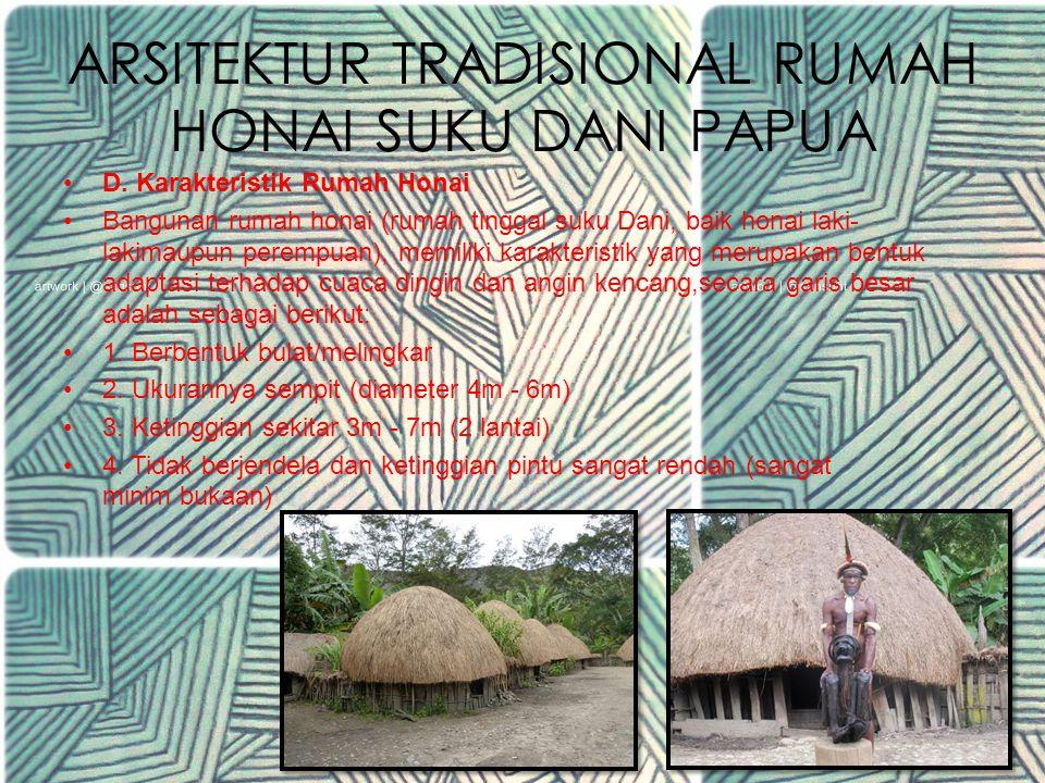 ARSITEKTUR TRADISIONAL RUMAH HONAI SUKU DANI PAPUA 4.Dapur/hunila.