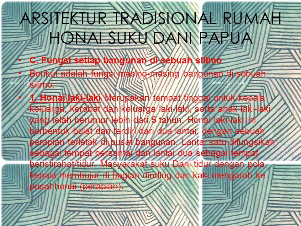 ARSITEKTUR TRADISIONAL RUMAH HONAI SUKU DANI PAPUA C.