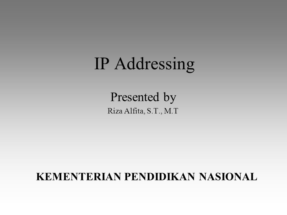 20 April 2015IP Addressing2