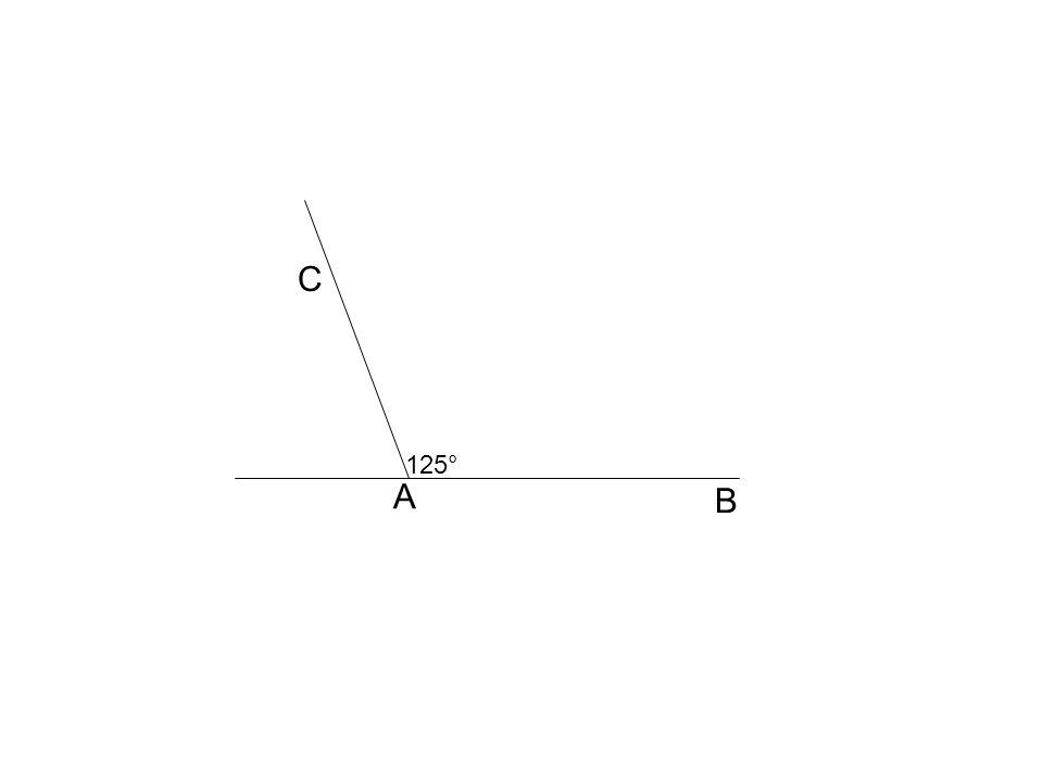 C A B 125°