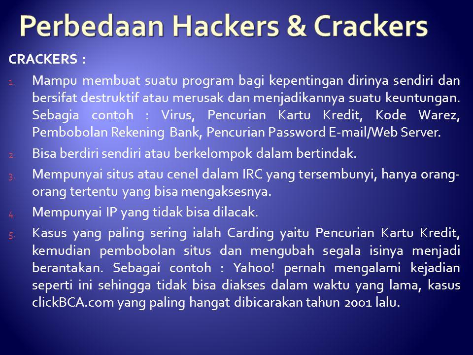 CRACKERS : 1.