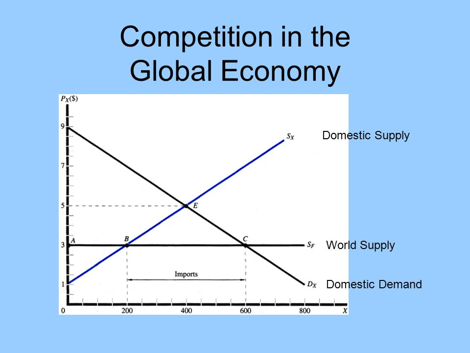 Competition in the Global Economy Domestic Supply Domestic Demand World Supply
