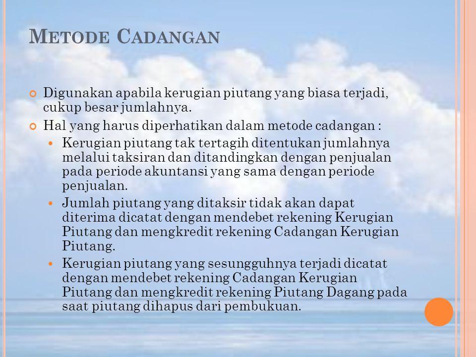 P ENGAKUAN PIUTANG WESEL (1) Piutang wesel dari penjualan kredit Misalkan pada tanggal 1 Juni 2008, PT Melati menjual barang kepada CV Indragiri seharga Rp 100.000.000.