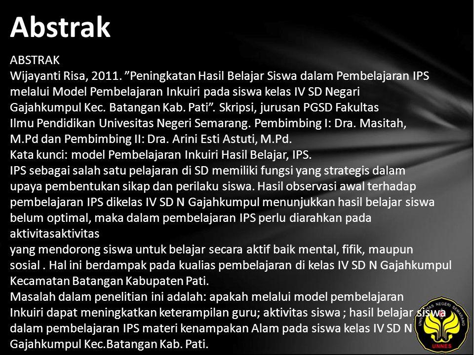 Abstrak ABSTRAK Wijayanti Risa, 2011.