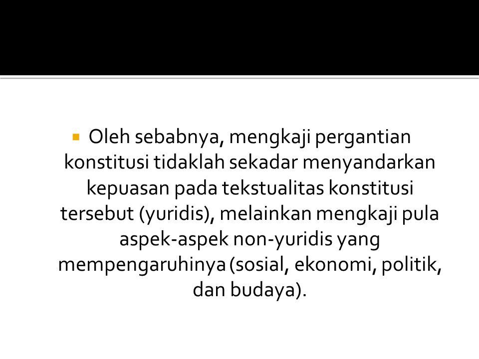  BPUPKI (Badan Penyelidik Usaha-Usaha Persiapan Kemerdekaan Indonesia, atau Dokuritu Zyunbi Tyoosakai), anggota dibagi habis dalam beberapa Bunkakai dan satu Panitia Hukum Dasar.