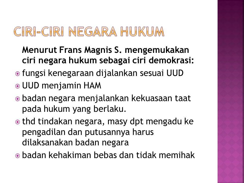 Menurut Frans Magnis S.