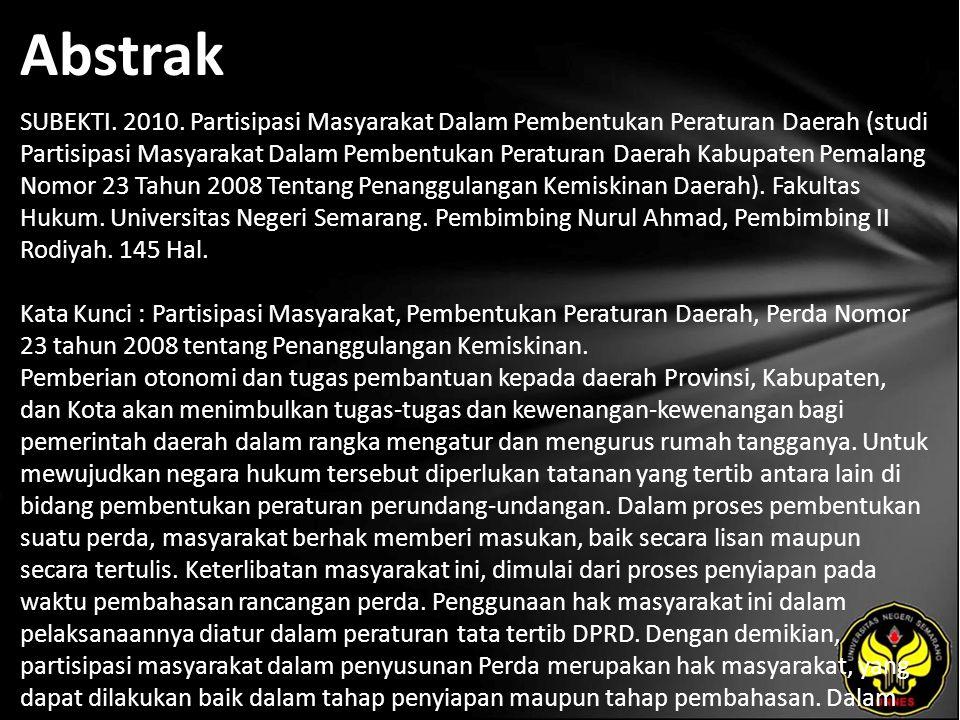 Abstrak SUBEKTI. 2010.