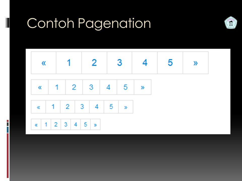 Pemrograman Web S1 Teknik Informatika STMIK Bumigora Contoh Pagenation