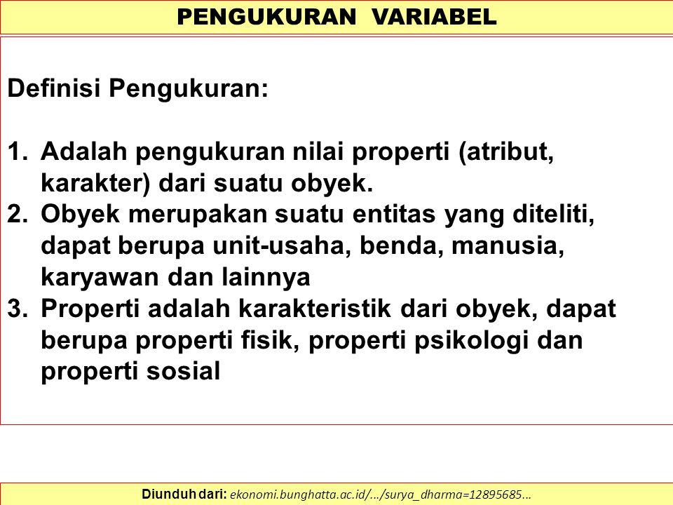 DEFINISI OPERASIONAL VARIABEL Definisi Operasional Eksperimental: (Fisher et al., 2002).