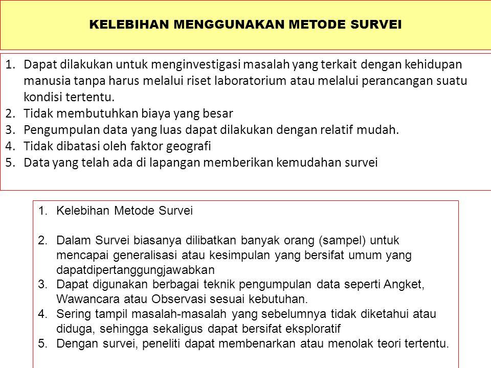 METODE SURVEI DALAM METODE PENELITIAN KUANTITATIF Diunduh dari: http://indudt.blog.fisip.uns.ac.id/2012/03/01/metode-survey-dalam-metode-penelitian-kuantitatif/ …………..