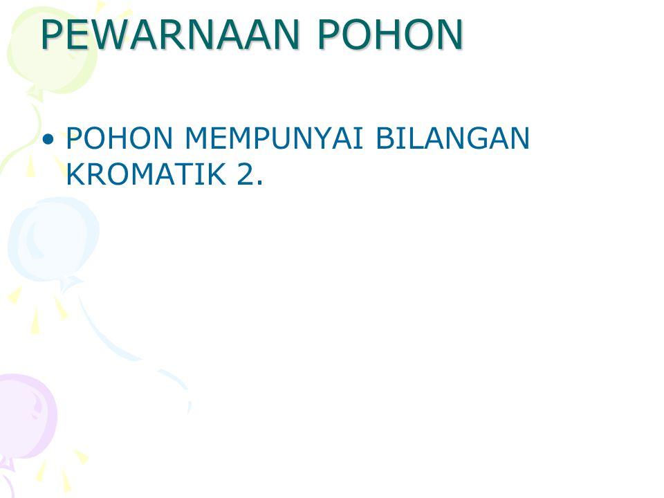 PEWARNAAN POHON POHON MEMPUNYAI BILANGAN KROMATIK 2.
