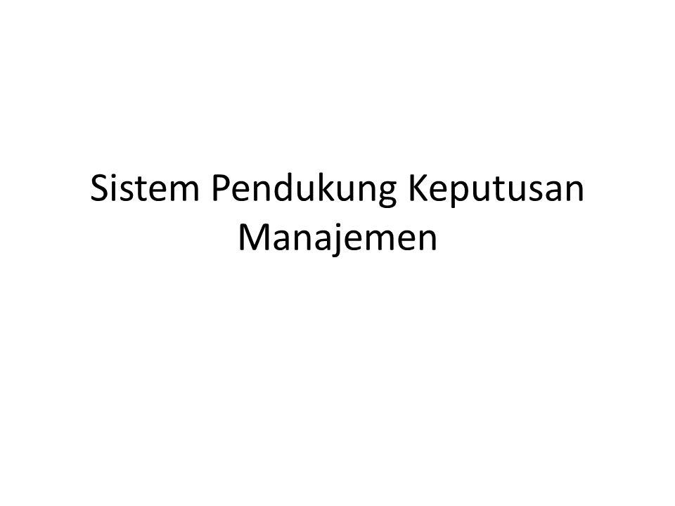 Dari berbagai definisi di atas dapat kita simpulkan bahwa Sistem pendukung keputusan adalah suatu system yang berbasis computer yang mengkombinasikan data dan model dengan tujuan membantu para pengambil keputusan untuk memecahkan dan menyelesaikan masalah – masalah yang semi terstruktur maupun yang tidak terstruktur melalui cara simulasi yang interaktif.